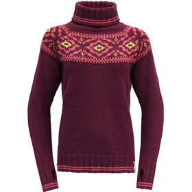 Devold Ona Round Sweater Dames, beetroot